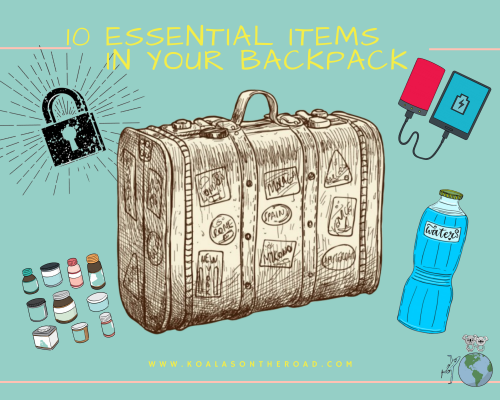 10 Essential items in your backpacki