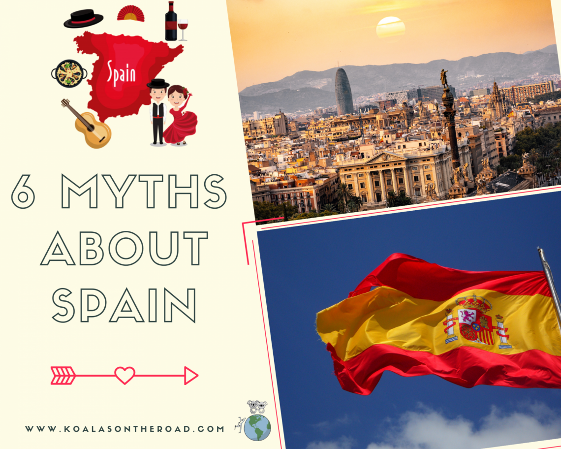 6 myths about Spain - koalas on the road