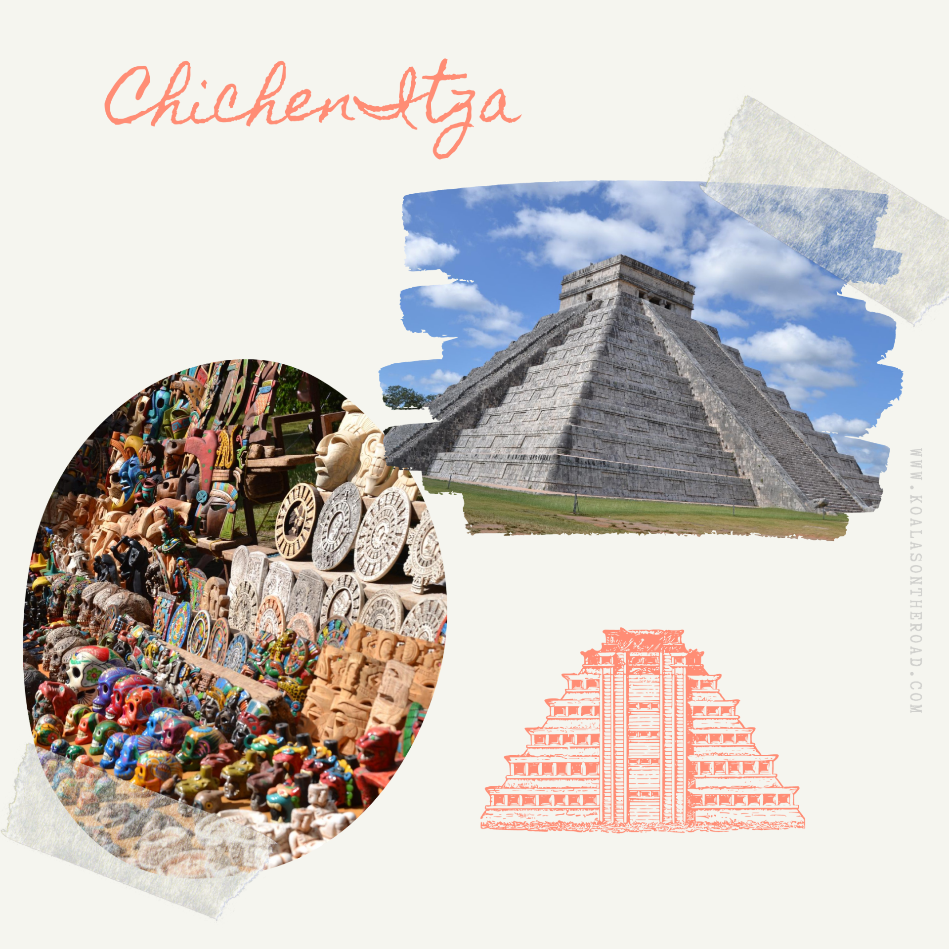 The best places to visit in Yucatan - koalas on the road - Chichen Itza
