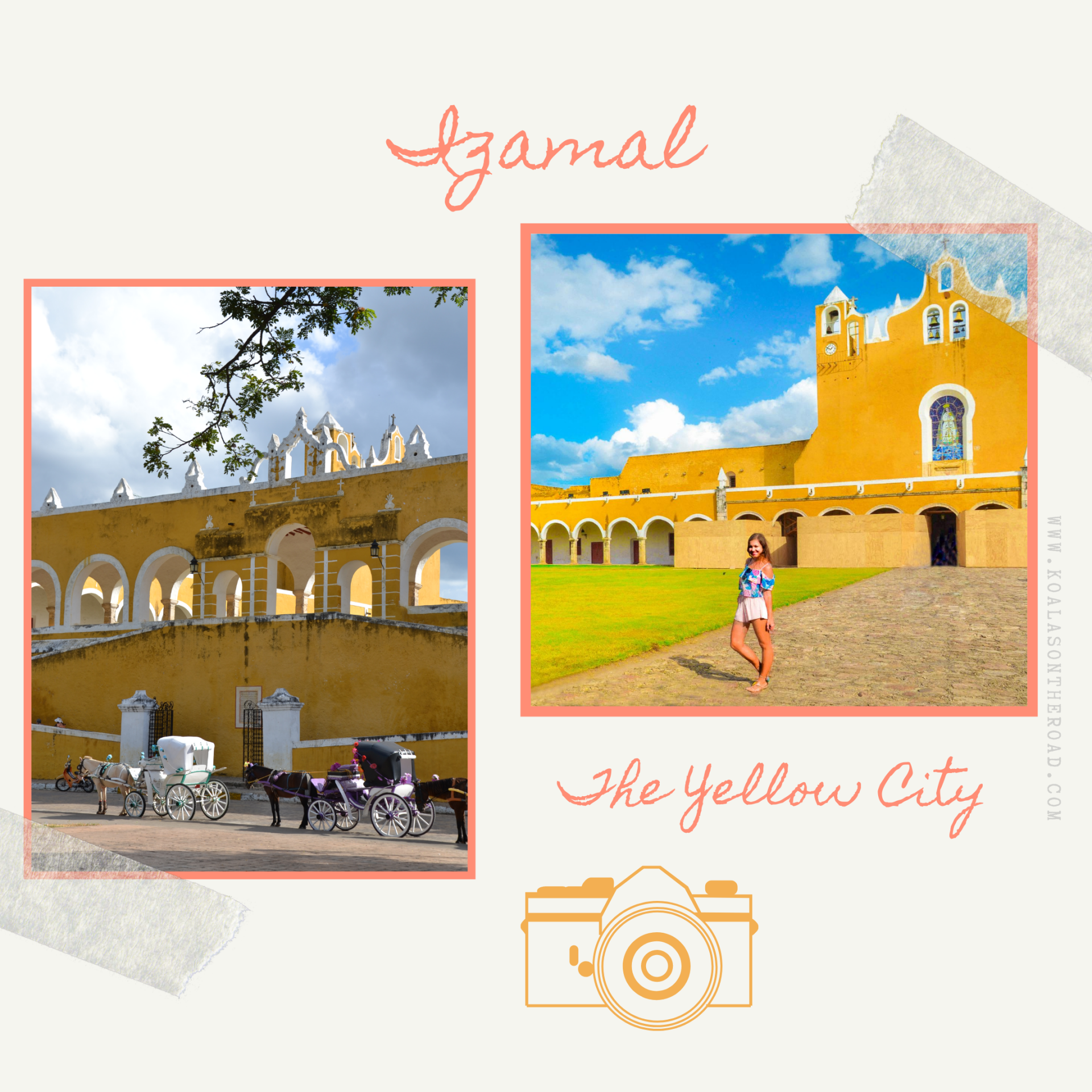 The best places to visit in Yucatan - koalas on the road - Izamal