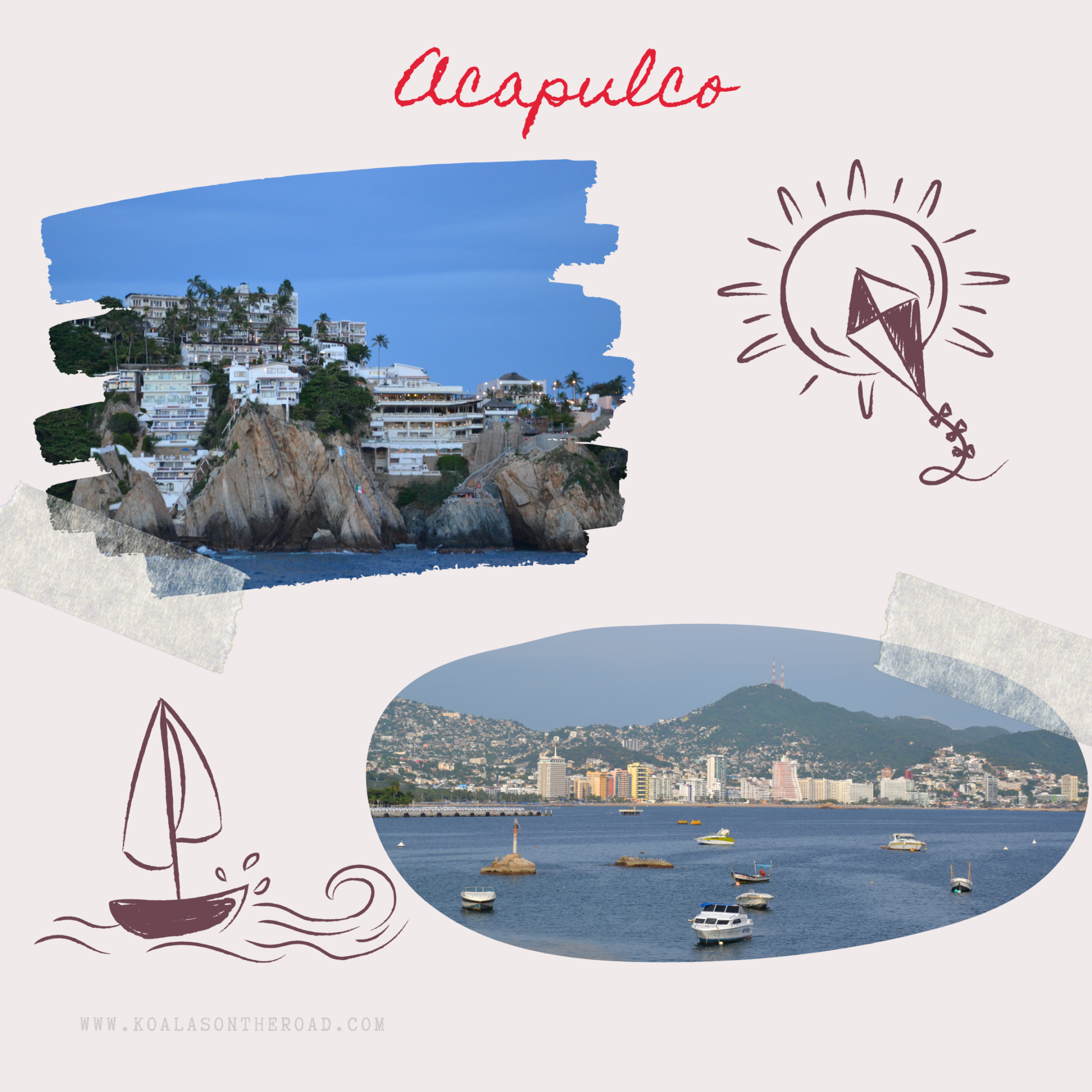 Discovering Mexico - what to visit in Puebla, Morelos and Guerrero states - koalas on the road - Acapulco